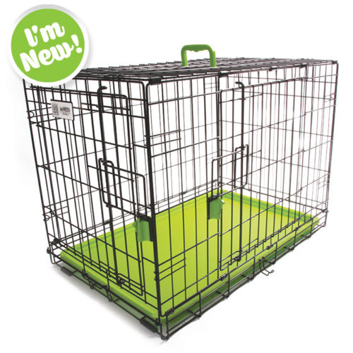 Coloured Wire Crate - Green