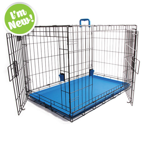 Coloured Wire Crate - Blue
