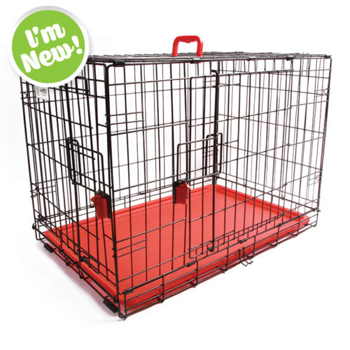 Coloured Wire Crate - Red